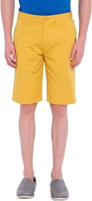 Chumbak Solid Men's Yellow Basic Shorts