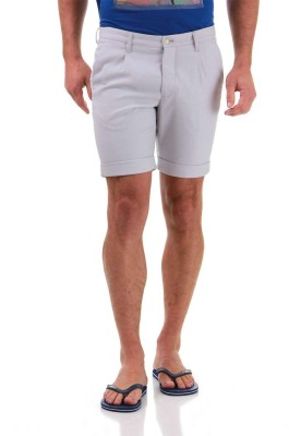 Jack & Jones Solid Men's Grey Basic Shorts