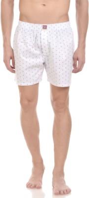 California Club Checkered Men's White Boxer Shorts