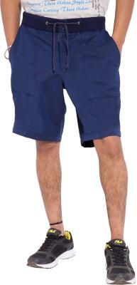 Tam Creatio Solid Men,s Blue Basic Shorts