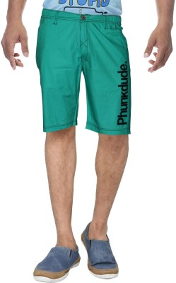 Clickroo Solid Men's Green Basic Shorts