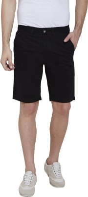 Urban Nomad By INMARK Solid Men's Black Chino Shorts