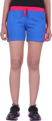 DFH Solid Women's Light Blue Basic Shorts, Beach Shorts, Gym Shorts, Night Shorts, Running Shorts, Sports Shorts