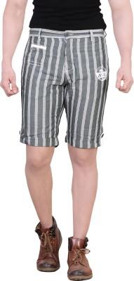King & I Striped Men's Green Chino Shorts