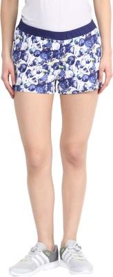 Rose Vanessa Printed Women's Reversible Blue Basic Shorts