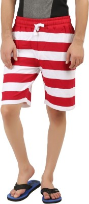 DESPERADO Striped Men's Red, White Basic Shorts