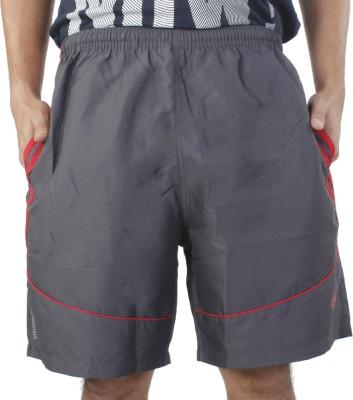 Hannspree Solid Men's Grey, Red Basic Shorts