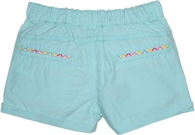 FS Mini Klub Solid Girl's Light Blue Basic Shorts