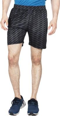 Creez Printed Men's Black, Grey Sports Shorts