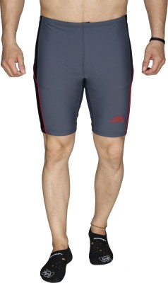 Aquamagica Solid Men's Grey Basic Shorts