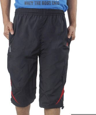 Hannspree Solid Men's Black, Red Basic Shorts
