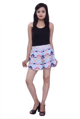 Maya Apparels Printed Women's Multicolor Basic Shorts