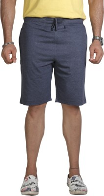Allocate Solid Men's Blue Sports Shorts, Gym Shorts