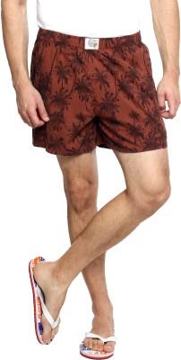 Zovi Printed Men's Brown Boxer Shorts