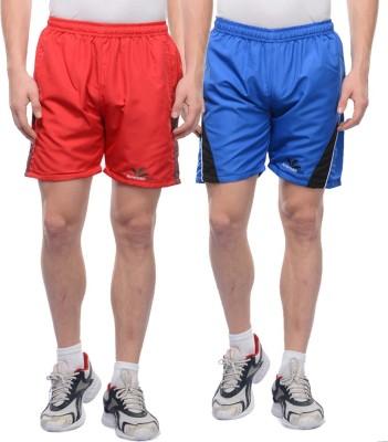 American-Elm Self Design Men's Multicolor Sports Shorts