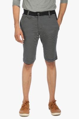 Global Nomad Striped Men's Black Bermuda Shorts