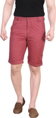 King & I Solid Men's Maroon Chino Shorts