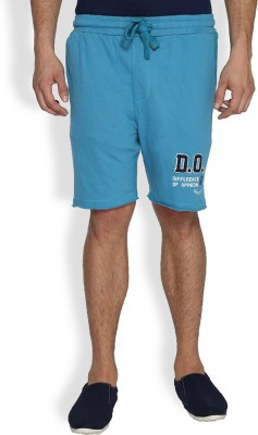 Difference of Opinion Solid Men's Blue Basic Shorts