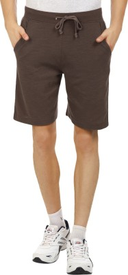 American Crew Solid Men's Brown Basic Shorts