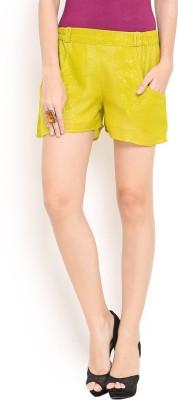 Trend Arrest Self Design Women's Light Green Beach Shorts