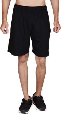 Wermin Solid Men,s Black Basic Shorts