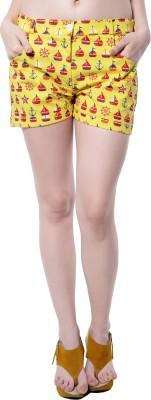 Hitch-Ki Printed Women's Multicolor Basic Shorts at flipkart