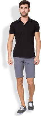 The Indian Garage Co. Solid Men's Grey Chino Shorts