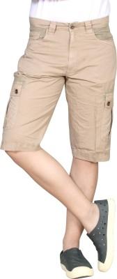 Hi-Sport Solid Men's Beige Basic Shorts