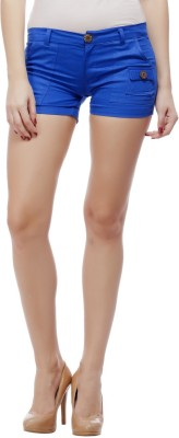 Concepts Solid Women's Blue Basic Shorts