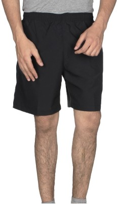 Climafit Solid Men's Black Gym Shorts, Running Shorts, Basic Shorts, Sports Shorts