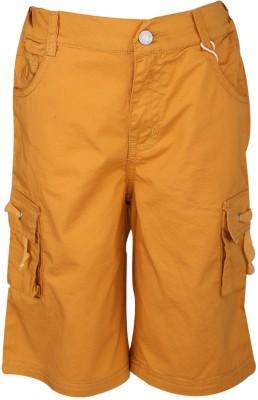 Joshua Tree Solid Boy's Yellow Cargo Shorts