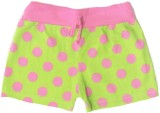Tomato Short For Girls Polka Print Cotto...