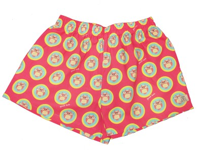Below The Belt Printed Women's Pink, Green Night Shorts