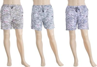 Karwan International Printed Men's Multicolor Basic Shorts