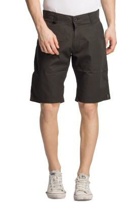 Bodymark Solid Men's Green Night Shorts
