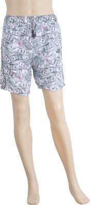 Karwan International Printed Men's Blue Sports Shorts