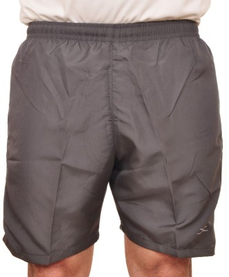 Zagros Solid Boys, Mens Grey Sports Shorts