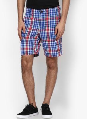 Jack & Jones Checkered Men's Red, Blue Basic Shorts