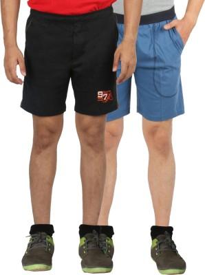 Fizzique Solid Men's Blue, Black Basic Shorts