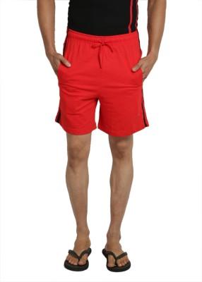 John Caballo Solid Men's Red Basic Shorts