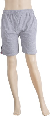 Karwan International Solid Men's Grey Sports Shorts