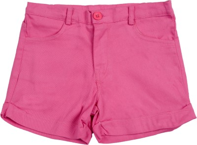 Addyvero Solid Girl's Pink Chino Shorts