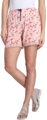 Vero Moda Printed Women's Pink Basic Shorts