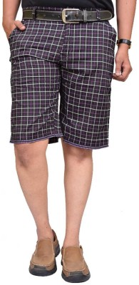 British Terminal Checkered Men,s Pink Bermuda Shorts