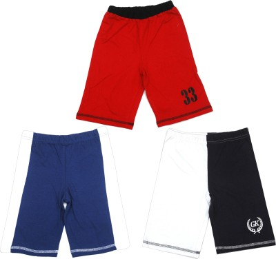 Gkidz Short For Boys(Multicolor, 3 - 4 Years, Pack of 3)