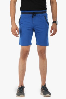 Flippd Solid Men's Blue Sports Shorts