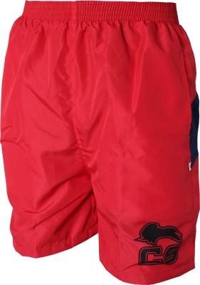ceela Sports Self Design Men's Red, Blue Sports Shorts