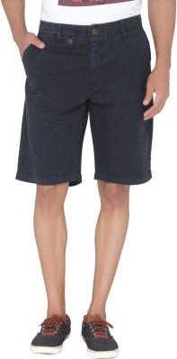 Jadeblue Solid Men's Blue Bermuda Shorts