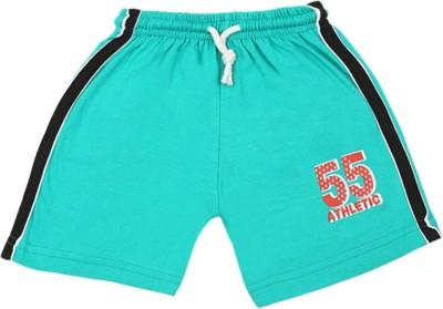Rishan Solid Boy's Green Basic Shorts
