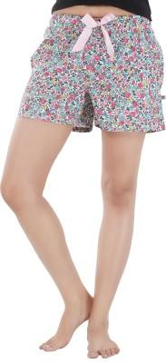 Nite Flite Floral Print Women's Multicolor Night Shorts